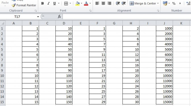 How to number the rows sequentially in Excel