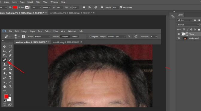 Darken Grey Hair and Remove Wrinkles With Photoshop